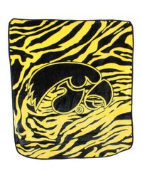 Iowa Hawkeyes Raschel Throw Blanket 50x60 by