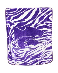 Kansas State Wildcats Raschel Throw Blanket 50x60 by