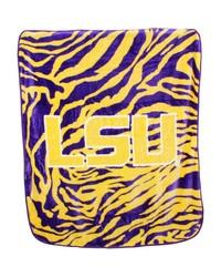 Louisiana State Tigers Raschel Throw Blanket 50x60 by