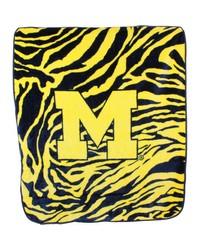 Michigan Wolverines Raschel Throw Blanket 50x60 by