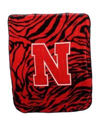 Nebraska Huskers Raschel Throw Blanket 50x60 by