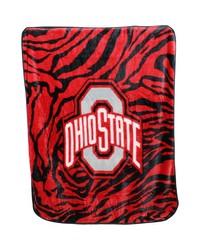 Ohio State Buckeyes Raschel Throw Blanket 50x60 by