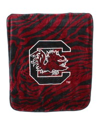 South Carolina Gamecocks Raschel Throw Blanket 50x60 by