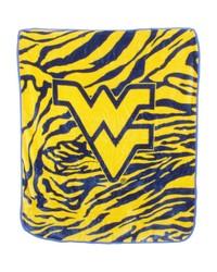 West Virgina Mountaineers Raschel Throw Blanket 50x60 by