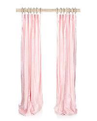 French Pink Velvet Drapery Panels by