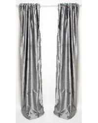 Gray Silk Lined Drapery Panels by