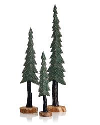 Wood Pine Trees by