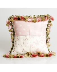 Isabella Patch and Tassels Pillow by