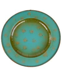 Round Turquoise Charger 4PC Set by  Global Views