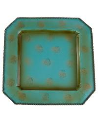 Square Turquoise Charger 4PC Set by  Global Views