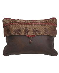 Cascade Lodge Bear Scene Envelope Pillow by