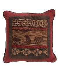 Cascade Lodge Bear Scene Pillow by
