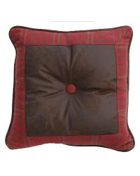 Cascade Lodge Square Plaid Pillow by