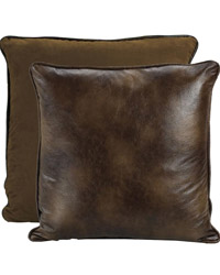 Distressed Faux Leather Euro Sham by