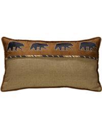 Black Bear Pillow by