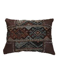 Navajo Geometric Scalloped Chenille Pillow by