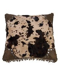 Scalloped Edge Cowhide Pillow by