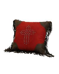 Studded Cross Pillow by
