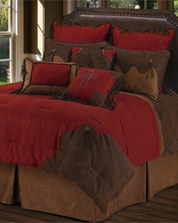 Red Rodeo Comforter Set - Twin by
