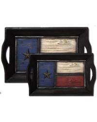 Texas Trays-Set of 2 by