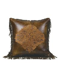 Austin Embroidered Design Pillow by