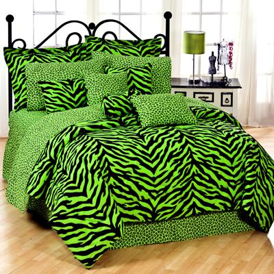 Zebra Print Bedding Twin on And Lime Zebra Print Bedding Set Comforter Sets   Comforter Bedding