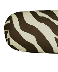 Brown Zebra Neckroll Pillow by