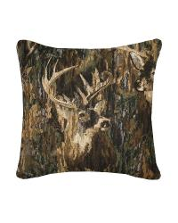 Browning Whitetails Square Camo Pillow by