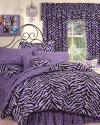 Lavender Zebra Print Bedding Set by