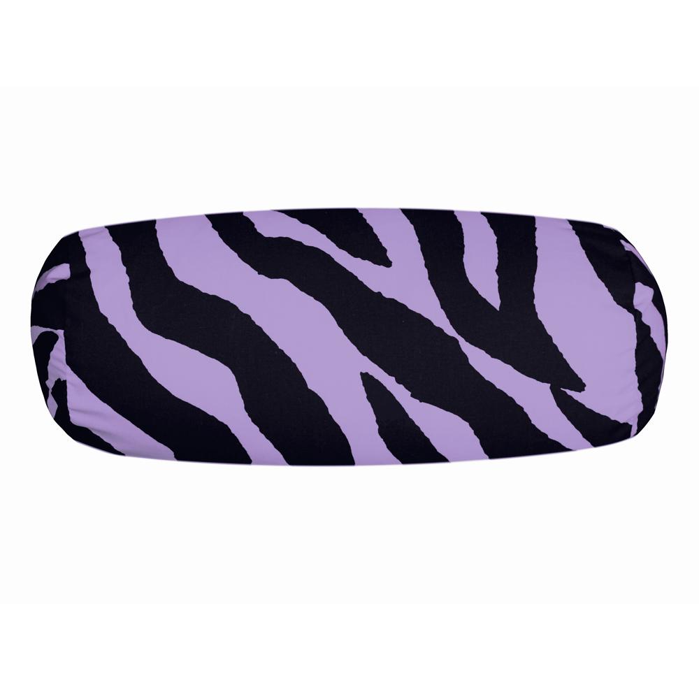Lavender Zebra Print Neckroll Pillow - InteriorDecorating