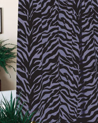 Purple Zebra Shower Curtain by