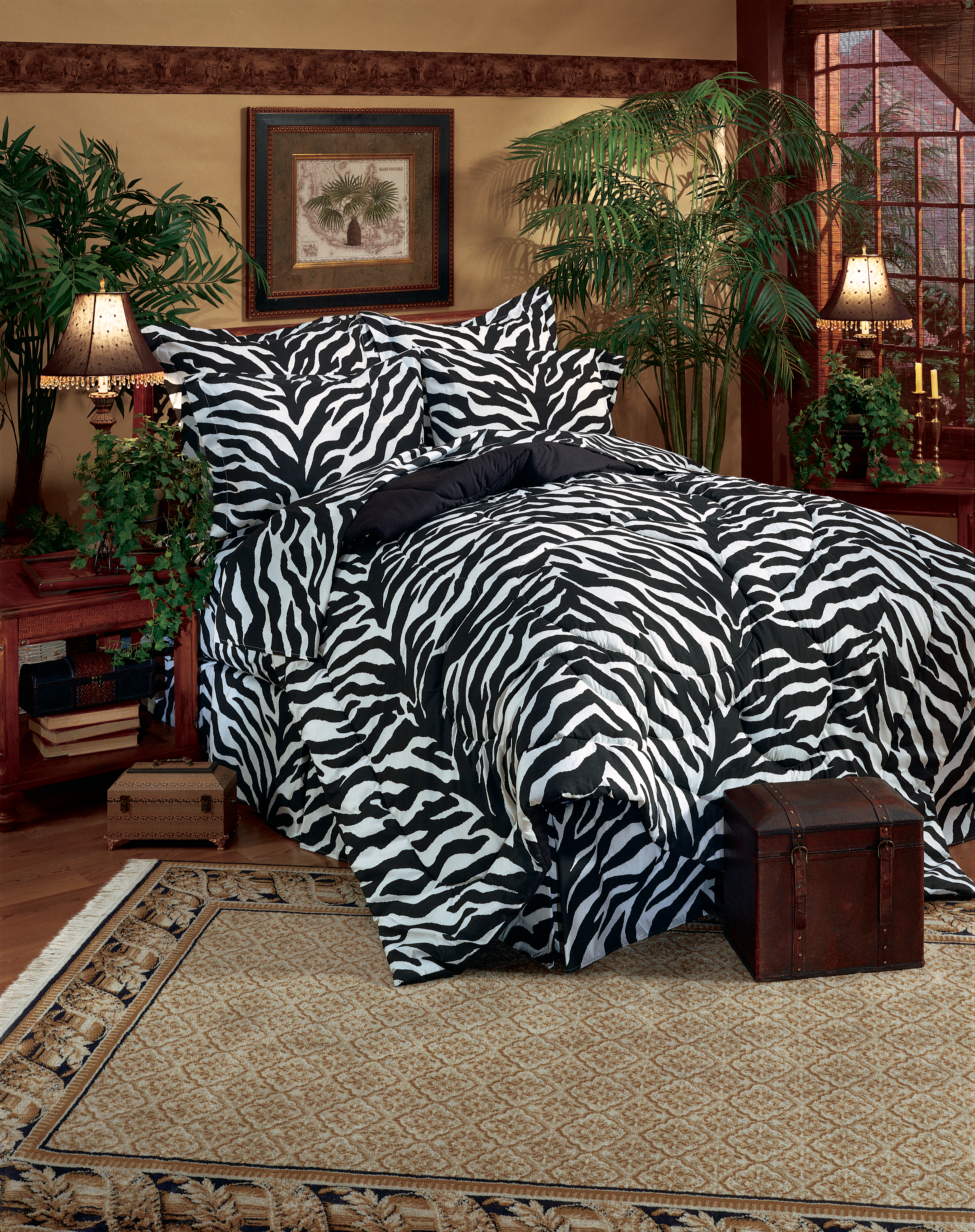 Zebra Print Bedding Set