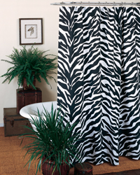 Zebra Shower Curtain by