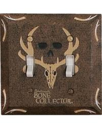 Bone Collector Double Lightswitch Plate by