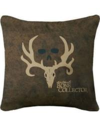 Bone Collector Brown Accent Pillow by