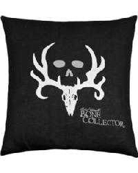 Bone Collector Black Square Accent Pillow by