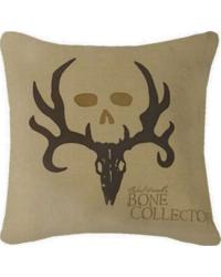 Bone Collector Square Pillow in Tan by