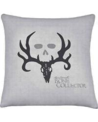 Bone Collector Square Grey Accent Pillow by