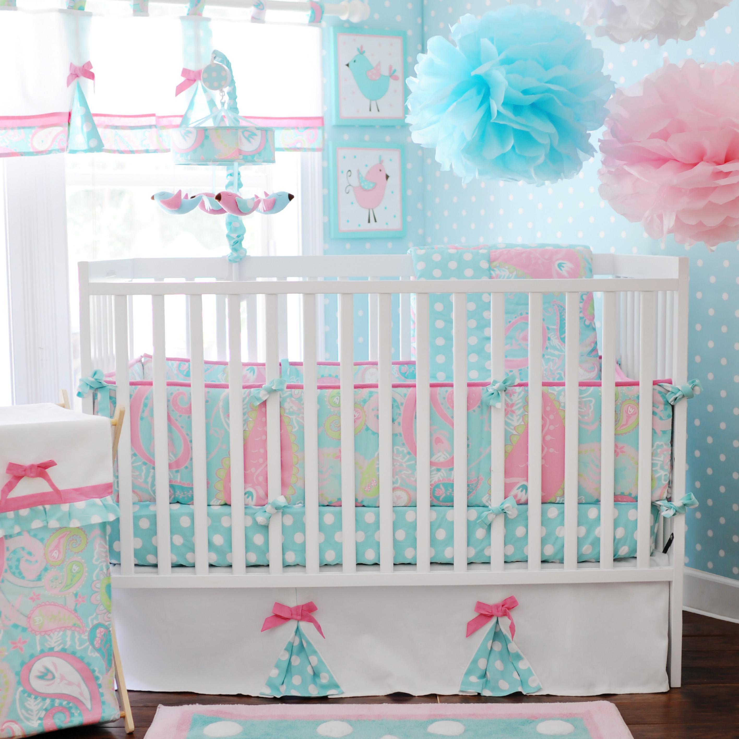 pixie baby aqua 3pc baby bedding