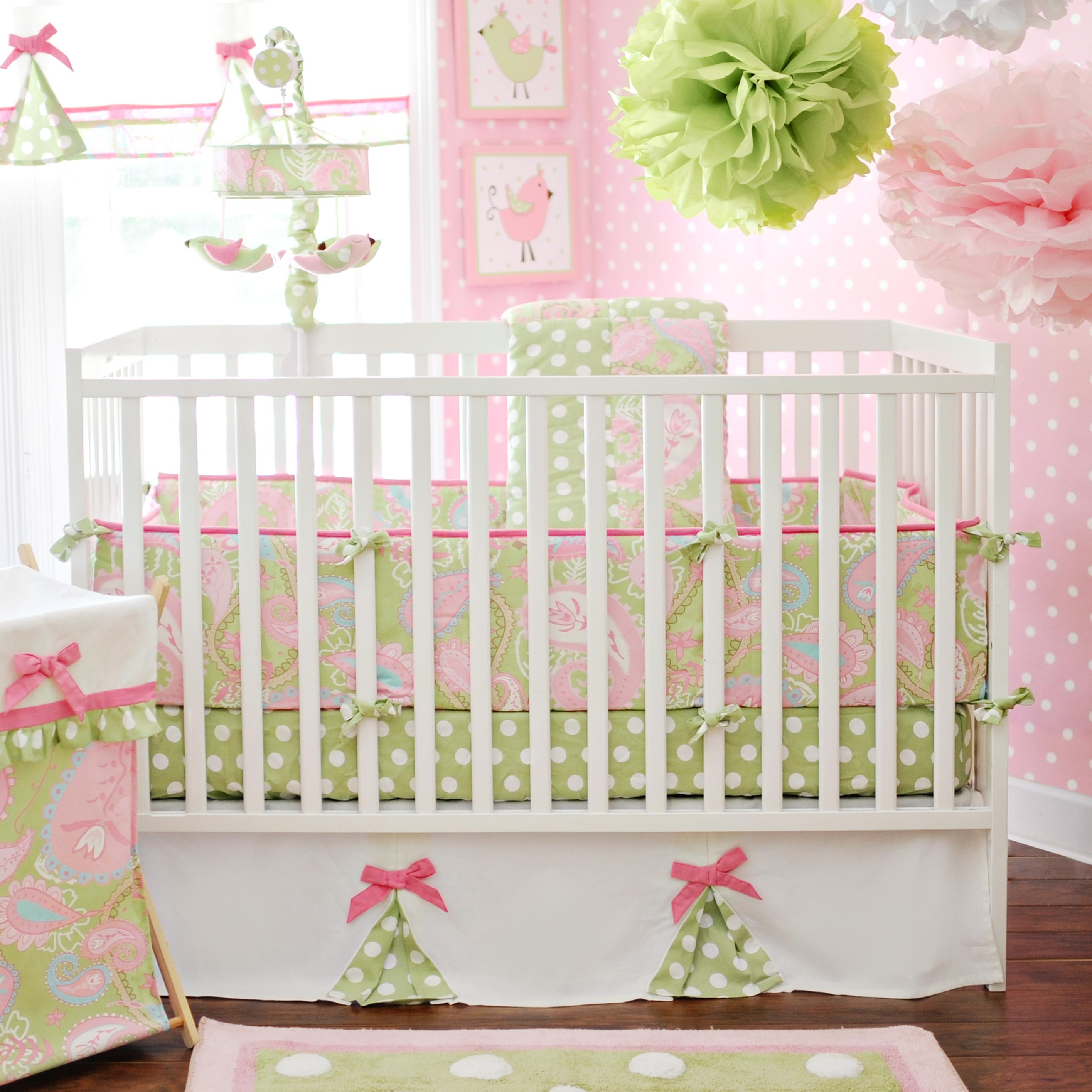 Pink and white polka dot bedding - My Baby Sam Pixie Baby Pink 4pc Baby Bedding Search Results Download Image Pink And White Polka Dot