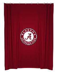 Alabama Crimson Tide Locker Room Shower Curtain by