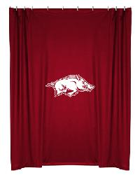 Arkansas Razorbacks Locker Room Shower Curtain by
