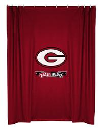 Georgia Bulldogs Locker Room Shower Curtain by