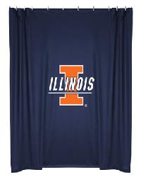 Illinois Illini Locker Room Shower Curtain by