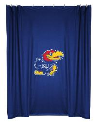 Kansas Jayhawks Locker Room Shower Curtain by