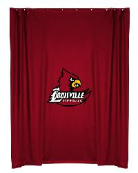 Louisville Cardinals Locker Room Shower Curtain by