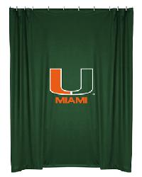 Miami Hurricanes Locker Room Shower Curtain by