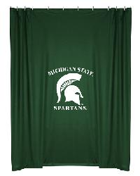 Michigan State Spartans Locker Room Shower Curtain by
