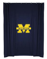 Michigan Wolverines Locker Room Shower Curtain by