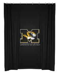 Missouri Tigers Locker Room Shower Curtain by